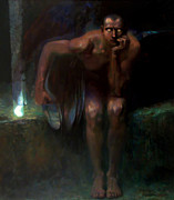 Lucifer Paintings - Lucifer by Franz von Stuck