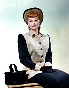 1940s Fashion Posters - Lucille Ball, 1940s Poster by Everett