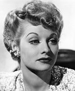 Ball Framed Prints - Lucille Ball, Ca. 1940s Framed Print by Everett
