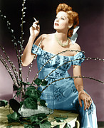 Colorized Prints - Lucille Ball, Ca. Midlate 1940s Print by Everett