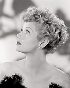 Bare Shoulder Framed Prints - Lucille Ball Portrait, 1940s Framed Print by Everett