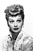 Earrings Photo Framed Prints - Lucille Ball, Portrait Framed Print by Everett
