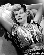 False Eyelashes Posters - Lucille Ball, Rko Publicity Portrait Poster by Everett