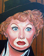 Movie Star Paintings - Lucille Ball by Tom Roderick