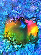Alcohol Ink Prints - Lucious Surprise Print by Alexis Bonavitacola