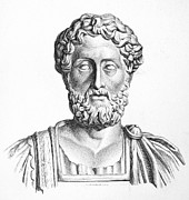 Statue Portrait Photo Prints - Lucius Commodus (161-192 A.d.) Print by Granger
