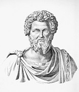 Statue Portrait Photo Prints - Lucius Septimius Severus Print by Granger