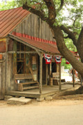 Country Dance Posters - Luckenbach Post Office Poster by Robert Anschutz