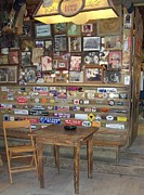 Ash-tray Framed Prints - Luckenbach Texas Back Room Saloon Framed Print by Elizabeth Sullivan