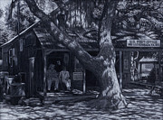 Sign Pastels Prints - Luckenbach Texas Print by Tyler Smith