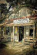 Post Framed Prints - Luckenbach TX Framed Print by Scott Norris
