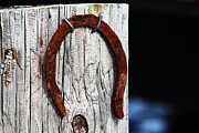 Horse Shoe Framed Prints - Lucky Framed Print by Andrew Pacheco