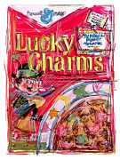 Strawberry Art Mixed Media Framed Prints - Lucky Charms Framed Print by Russell Pierce