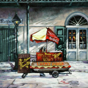 New Orleans Oil Paintings - Lucky Dogs by Dianne Parks