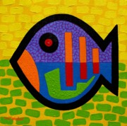 Dots Paintings - Lucky Fish II  by John  Nolan