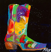 Contemporary Cowboy Paintings - Lucky Heart by Tracy Miller