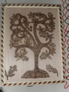 India Pyrography Metal Prints - Lucky Tree Metal Print by Vijay Sharma