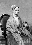 Quaker Framed Prints - Lucretia Coffin Mott, American Activist Framed Print by Photo Researchers