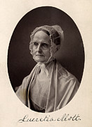 Quaker Prints - Lucretia Coffin Mott.  F. Gutekunst Print by Everett