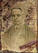 Important Mixed Media - Lucretia Mott by Kent Mullens
