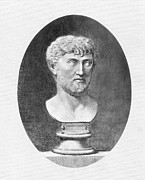 Statue Portrait Photo Prints - Lucretius (96 B.c.?-55 B.c.) Print by Granger