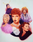Lucille Ball Posters - Lucy A Tribute early career Poster by Bill Mather