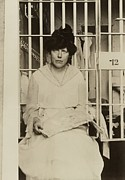 Rights Prints - Lucy Burns 1879-1966 In A Jail Print by Everett