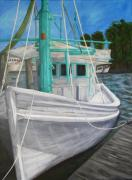 Shrimp Boat Prints - Lucy F Print by JoAnn Wheeler