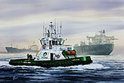 Tugboat Prints - Lucy Foss Print by James Williamson