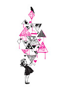 Pink Metal Prints - Lucy in the sky Metal Print by Budi Satria Kwan