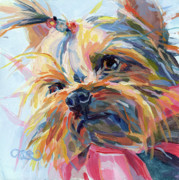 Yorkie Prints - Lucy in the Sky Print by Kimberly Santini
