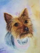 Brown Dog Framed Prints - Lucy Framed Print by Patricia Pushaw