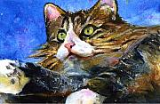 John Benson Paintings - Lucy the Cat by John D Benson