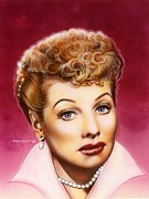 Celebrity Portrait Prints - Lucy Print by Tim  Scoggins