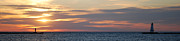 Ludington State Park Posters - Ludington Sunset Panorama Poster by Twenty Two North Photography