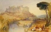 Castles Framed Prints - Ludlow Castle  Framed Print by Joseph Mallord William Turner