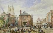English Scene Posters - Ludlow Poster by Louise J Rayner