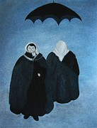 Umbrella Pastels - Ludmilla and Rosemasha by Rosemarie Glennon Kliegman