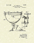 Antique Drawing Posters - Ludwig Drums 1925 Patent Art Poster by Prior Art Design
