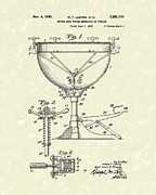 Antique Drawing Posters - Ludwig Drums 1941 Patent Art Poster by Prior Art Design