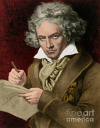 Continue Prints - Ludwig Van Beethoven, German Composer Print by Photo Researchers