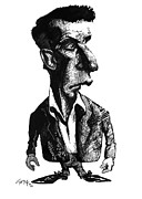 Philosophy Art - Ludwig Wittgenstein, Caricature by Gary Brown