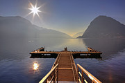 Light Rays Prints - Lugano Print by Joana Kruse