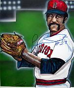 Red Sox Art - Luis Tiant by Dave Olsen