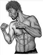 Athletes Drawings - Luke Rockhold by Audrey Snead