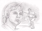 Luke Skywalker - Farmboy Print by Chris  DelVecchio