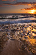 North Shore Prints - Lumahai Dawn Print by Mike  Dawson