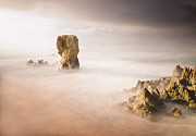 Galicia Photo Prints - Lumeboo Beach Long Exposure Print by Ramón Espelt Photography