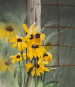 Still Life Originals - Lumineuses Marguerites by Caroline Boyer