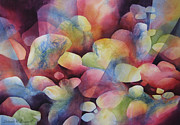 Organic Forms Paintings - Luminosity by Deborah Ronglien